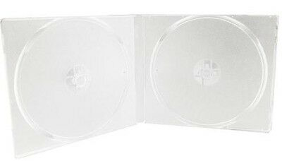 20 à 100 demi boitiers double blanc transparent pour ranger de 40 à 200 CD / DVD