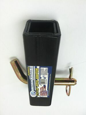"""Trailer Hitch Reducer Adapter 2"""" to 1 1/4"""" Receiver Tow Towing Big to Small NEW"""