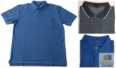 PLUS SIZE Polo Chest Pocket Top Shirt Collar Mens King Large 3XL-6XL New 8317