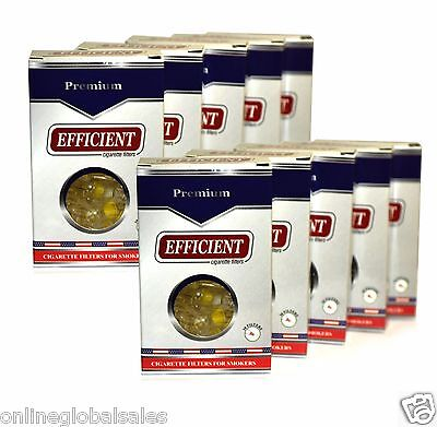 10 Packs EFFICIENT Cigarette Filters (300 Filters) Block & Filter Out Tar & Nic