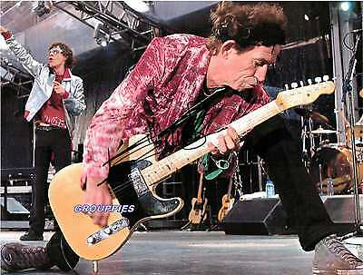 Keith Richards The Rolling Stones  Signed  8x10 RP