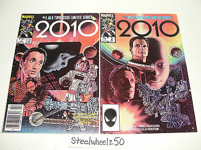 2010 #1 & 2 Comic Lot Marvel Movie Special 1984 Movie Adaptation Space Odyssey