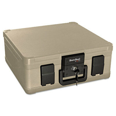 """Media File Fire Chest, 27 Cu. Ft., 16""""x12-1/2""""x6-1/2"""",Taupe FIRSS103"""
