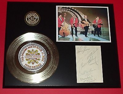 Bill Haley - 24k Gold Record & Reprinted Autographed Photo - USA Ships Free
