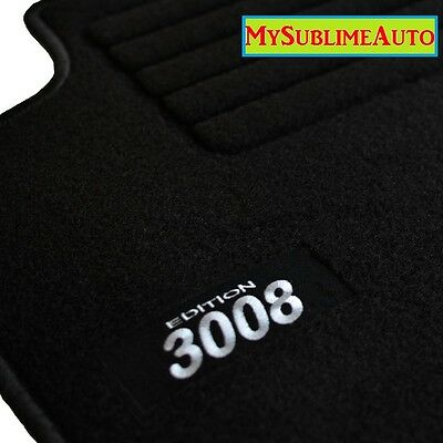 tapis de sol peugeot 607 de 2001 2010 velours edition logo brod neufs. Black Bedroom Furniture Sets. Home Design Ideas