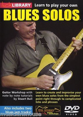 Learn to Play Your Own BLUES SOLOS GUITAR Tutor DVD LICKS Riffs Soloing Lektion