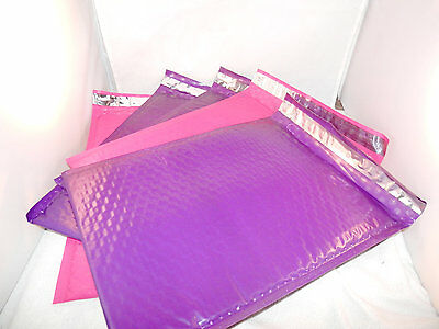 10 Hot Pink and Purple 8.5x12 Bubble Mailers,Padded Self Adhesive Colored Mailer