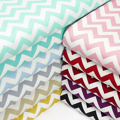 Cotton Fabric by FQ 10mm Zig Zag Chevron Stripe Dress Quilt Patchwork Craft VK49