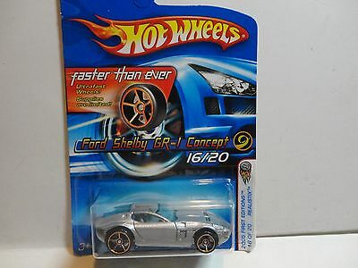 2005 Hot Wheels #16 Silver Ford Shelby GR-1 Concept w/FTE Wheels