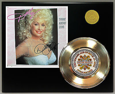 Dolly Parton - 24k Gold Record & Reprinted Autographed Photo - USA Ships Free
