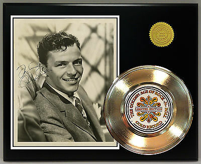 Frank Sinatra - 24k Gold Record & Reprinted Autographed Photo - USA Ships Free