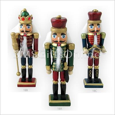 5.75 inch Christmas Ornament Wooden Nutcracker Soldier / King Decoration