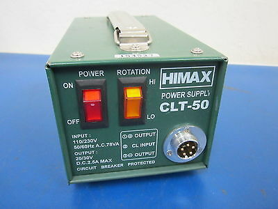 Himax Power Supply CLT-50 for electric torque tool. Needs fuse