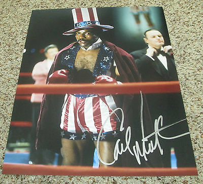 Carl Weathers Signed 11x14 Apollo Creed Photo Rocky with proof