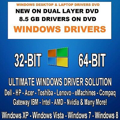 AUTOMATIC WINDOWS DRIVERs SOFTWARE FOR  XP VISTA 7 8 8.1 10 on DVD