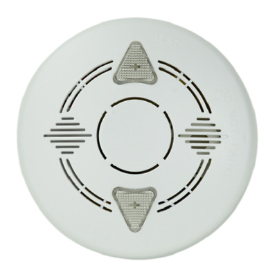 Mains Powered 240V Ac Photoelectric Smoke Alarm With 9V Dc Back Up Battery