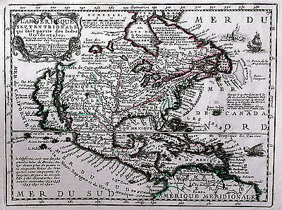 Antique map, L'Amerique Septentrionale