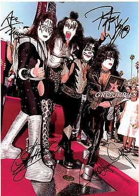 KISS signed 8x10 photo RP
