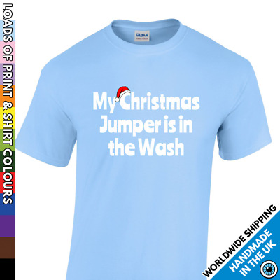 Childrens Christmas Funny Tshirt - Jumper In The Wash Kids Boy Girl Xmas T Shirt