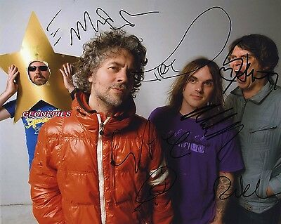 THE FLAMING LIPS signed 8x10 Autograph Photo RP