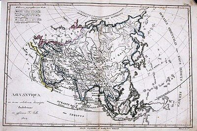 Antique map, Asia Antiqua
