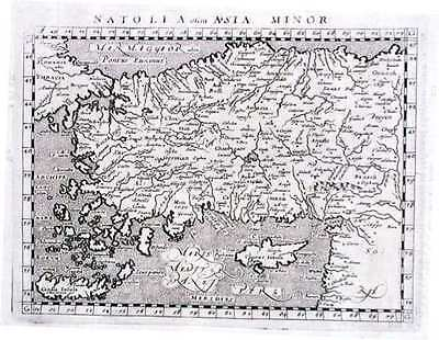 Antique map, Natoli olim Asia Minor