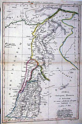 Antique map, Syria, Coelesyria, Phoenicia et Palaestina