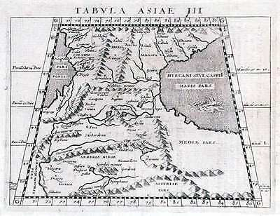 Antique map, Tabula Asiae III