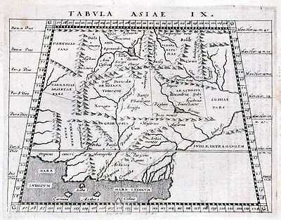 Antique map, Tabula Asiae IX