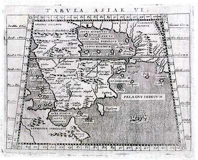 Antique map, Tabula Asiae VI