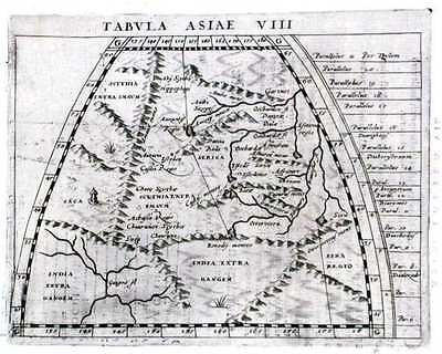 Antique map, Tabula Asiae VIII