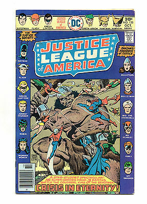 Justice League of America Vol 1 No 135 Oct 1976 (VFN-) JSA & Heroes of Earth S