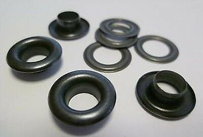 1000 Pieces EYELETS 7,0 mm rust-free (BLACK) RIVETS f. SPINDLE PRESS, PRESS uvm