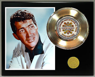 Dean Martin - 24k Gold Record & Reprinted Autographed Photo - USA Ships Free