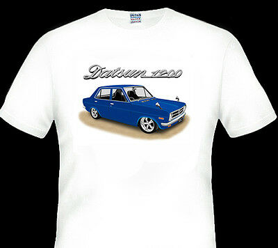 Datsun 1200  Sedan  White  T-Shirt    Men's  Ladies  Kid's Sizes
