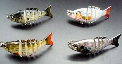 """50mm """"Bite Me Lures"""" Jointed Mini Mullet Swimbait Fishing Lure Bass Bream Trout"""