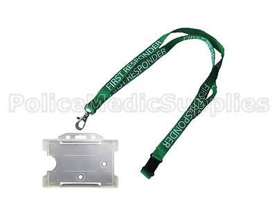 1 x 90 x 1.5cm Lanyard FIRST RESPONDER with ID Pass Holder Ambulance Paramedic