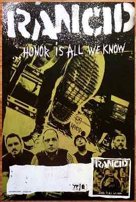 RANCID Honor Is All We Know 2014 Ltd Ed RARE New Poster +FREE Punk Rock Poster!