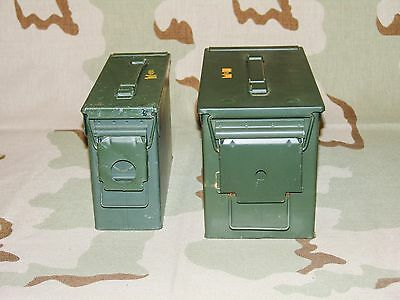 One 30cal M19A1 Ammo Can + One 50cal M2A1 Ammo Can Grade 2 Army Surplus Combo