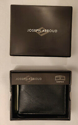 ae2d23d537806 Authentic Joseph Abboud Mens Dark Brown Leather Slimfold Wallet New In Gift  Box