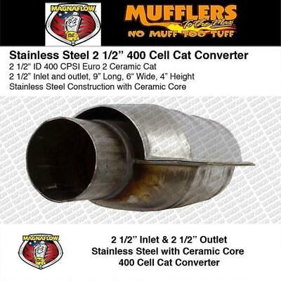 """Magnaflow Universal Cataltyic Converter 2 1/2 Cat Small Oval 4x6 9"""" Long Ceramic"""