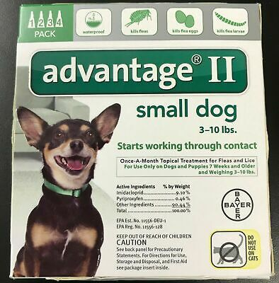 K9 Advantage II 10 lb Flea Lice Medicine for Small Dogs Pack K-9 4 Month Supply