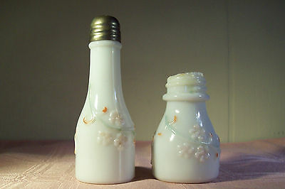 Victorian EAPG Eagle Glass Co Shakers Pee Wee & Companion Forget-Me-Not