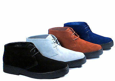New Men Ankle Boots PlayBoy Chukka British Style Suede Casual Walkers Oxfords
