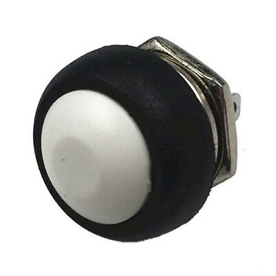 Small round  push button switch Momentary on/off  IN WHITE , UK FREE POSTAGE