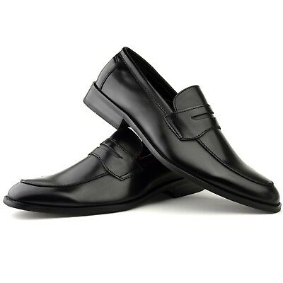 Mens Fashion New Black Leather Shoes Formal Smart Dress UK Size 5 6 7 8 9 10 11