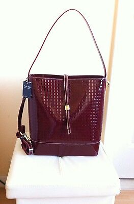 AUTHENTIC ARCADIA RED LEATHER MADE IN ITALY BAG TOTE CROSSBODY NWT