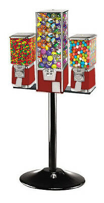 Triple Combo Bulk Vending Machine - RED with 75 cent vend