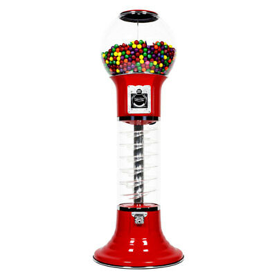 5' Deluxe Whirler Spiral Gumball Machine - RED