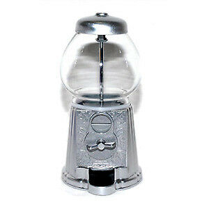 Small Silver Gumball Bank Candy Machine